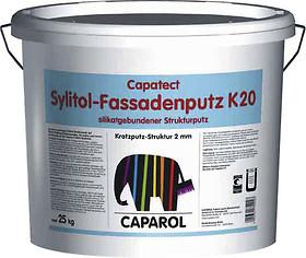 caparol sylitol fassadenputz k20 2mm kratzputz wei 25kg farben shop. Black Bedroom Furniture Sets. Home Design Ideas